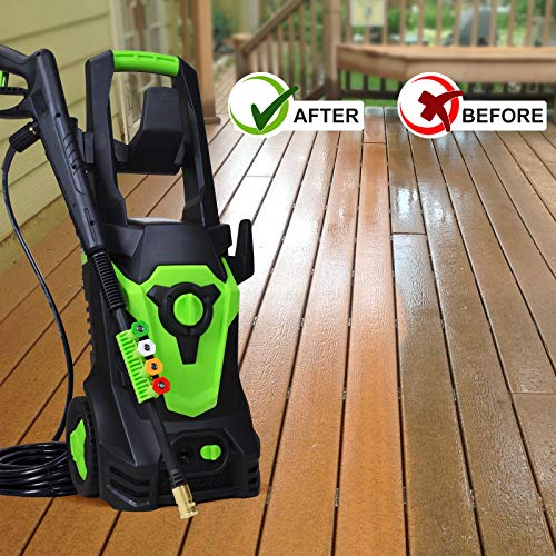 PowRyte Power Washer 4000PSI 3.0GPM,Electric Pressure Washer with 4 Quick-Connect Spray Nozzles