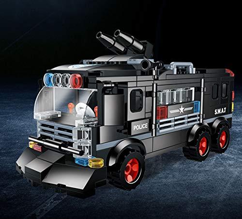 Modbrix 1222 - SWAT Polizei Mannschaftswagen inkl. SWAT Soldaten Figuren und Waffen