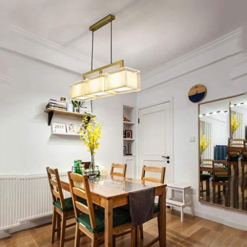 Kroonluchter van ijzer, moderne kunst voor de woonkamer, eettafel, noord-Europa, één kop rechthoekig (kleuren: goud, grootte: 122 x 18 cm) 8BAYFA (kleur: goud)