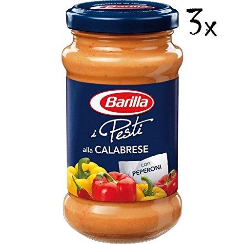 3x Barilla Pesti alla Calabrese pesto mit paprika und ricotta-käse 190g italien