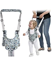 Mumoo Bear Baby Walking Harness, Hand-held Toddler Walking Assistant, Standing up and Walking Learning Helper Protective Belt for Baby 8-24 Months (Blue)
