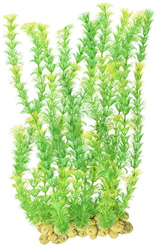SPORN Aquarium Decoration, Wall of Plants Yellow and  Green