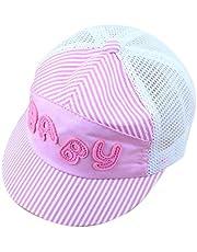 Vi.yo Sombrero de Dibujos Animados de los niños de Verano Gorras de Malla Bebé Niños Gorra de béisbol de la Visera de Moda Snapback Sombreros Niños niñas Gorra Ajustable Size 45-49cm (Rosa)