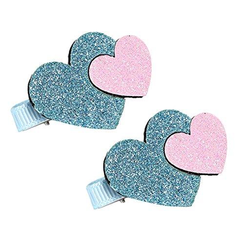 Six Pack de Pretty Pink Glitter Métal Micro Papillon Pince à Clips pour cheveux