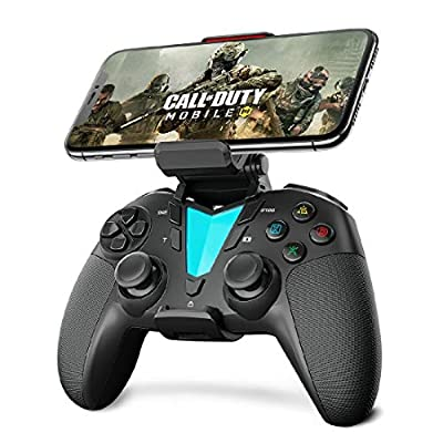 IFYOO PS4 Wireless Controller Gamepad Compatible with Mobile Games MFi Games for iPhone/iPad(iOS 13 or Above), Mac OS, Android(Ver. 10 or Above) Phone/Tablet/TV, for Playstation 4, Slim, Pro - Black by IFYOO