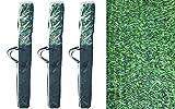 Pal Ferretería Industrial Rollo de seto Artificial ignífugo Verde de ocultación 3x1m (3- Rollos 3x1m)