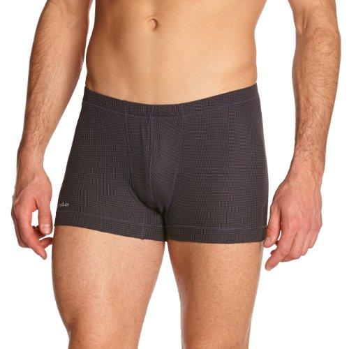 Odlo Herren Boxershorts Cubic, Ebony Grey - Black, S, 140272