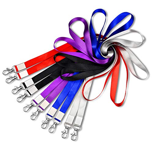 10PCS Mcyye Neck Lanyards, Premium Soft Nylon Lanyard for Kids, Men, Women, 5 Colors for Id Badges Holder, Keys, Car Key, Cruise, Comfortable for Skin