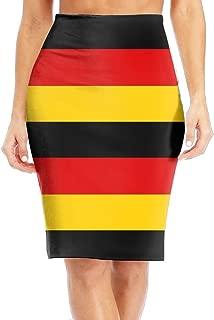 TO-JP Women's Classic German Flag Long Pencil Skirt Knee Length Dress