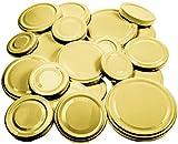 21 Ersatzdeckel gold, Deckel für Gläser Marmeladengläser Einmachgläser Sturzgläser