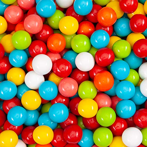"Gumballs for Gumball Machine - Fruit Shake 25 mm 1"" Bubble Gum Balls Bulk 2.5 Pound"