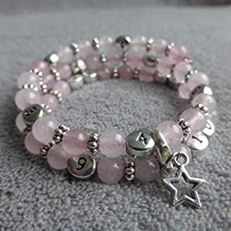 Bracelet dallaitement quartz rose Ponleak/°