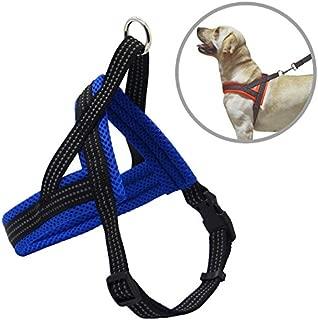 BPS® Arnés Correa para Perros Mascotas Collar Ajustable 4 Tamaños Colores para Elegir para Perro Pequeño Mediano y Grande (M, Azul) BPS-3882A