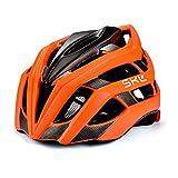 SKL Casque de vélo, Casque de vélo Ultra-léger Unisexe avec sécurité LED Feu arrière feuillard réglable Casques...