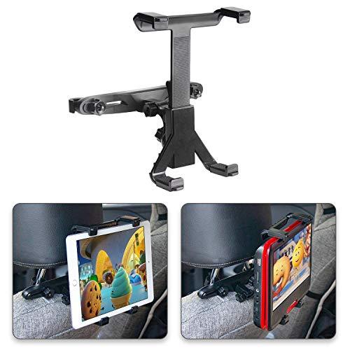 POMILE Auto Kopfstützenhalterung für DVD Player, Verstellbare Autositz Kopfstütze Halterung für tragbare DVD-Player, Apple iPad Air / Mini, Samsung Galaxy Tab, Kindle Fire, 7
