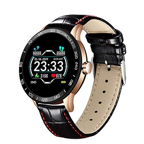 New Smart Watch Men's Fitness Smart Watch IP67 Tasa del Corazón Monitoreo De La Presión Arterial Podómetro para Android iOS Sports Smart Watch,H