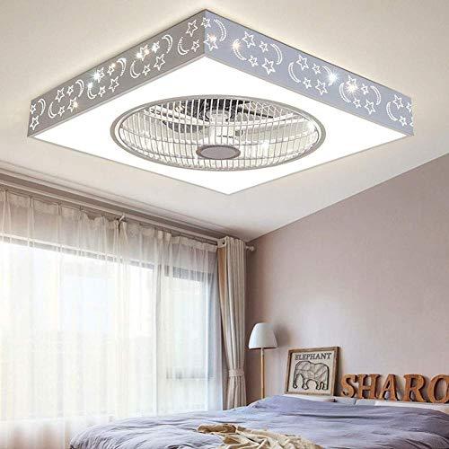 De techo del LED con el ventilador moderno minimalista Ventilador con Luz y de techo control remoto luz del ventilador ultra silencioso de ahorro de energía Dormitorio ventilador de la sala de techo L