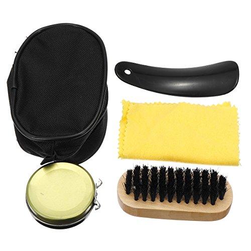 Tutoy 4 in 1 Shoe Shine Care Kit Set neutral Polnisch Bürste Lederschuhe Stiefel + Case Shoes Accessories