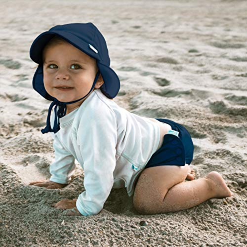 i play. Toddler Flap Sun Protection Swim Hat, Navy, 2T-4T