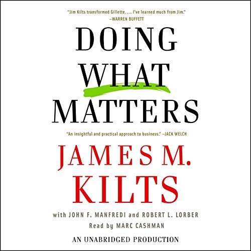 Doing What Matters audiobook cover art
