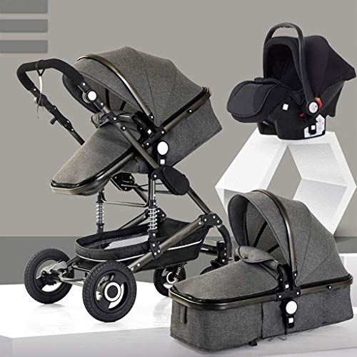 Best Buy! DAGCOT Toddler Stroller 3 in 1,Newborn Stroller Baby Pushchair High Landscape, Baby Pr...