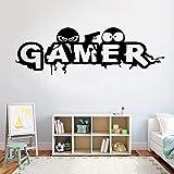 Juego vinilo etiqueta de la pared juego vinilo papel de pared hogar creativo
