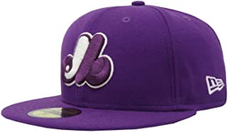 59Fifty MLB Montreal Expos Cooperstown M Purple Fitted Headwear Cap