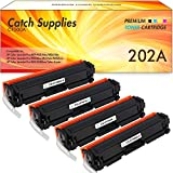 Catch Supplies Compatible Toner Cartridge Replacement for HP 202A CF500A CF501A CF502A CF503A 202X CF500X for HP Color Laserjet Pro MFP M281FDW M281CDW M254DW (Black Yellow Cyan Magenta,4-Pack)