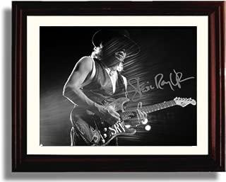 Framed Stevie Ray Vaughn Autograph Replica Print
