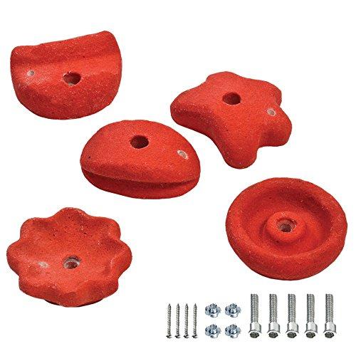 FATMOOSE GrabOn XXL 5 Klettersteine Rot, ca. 12cm