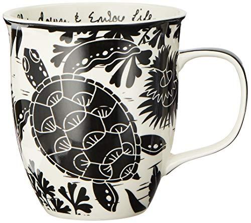 Black & White Sea Turtle Coffee Mug