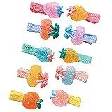 10 Stücke Baby Mädchen Haarspangen Kleine Mädchen Haarspangen Kinder Niedlichen Erdbeere und Frucht Haarspangen Kinder Haarschmuck Haarspange für Kinder