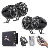 Motorrad-Audio, Auto-MP3-Bluetooth Harley wasserdicht Lautsprecher-Karten-Lautsprecher Car Multimedia, Systeme wasserdichte Motorrad-Audio mit Kabel-Fernbedienung, Zwei 5-Zoll-Chrom-Lautsprecher
