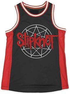 e50d63dca8b Slipknot Logo Black/RED Basketball Jersey