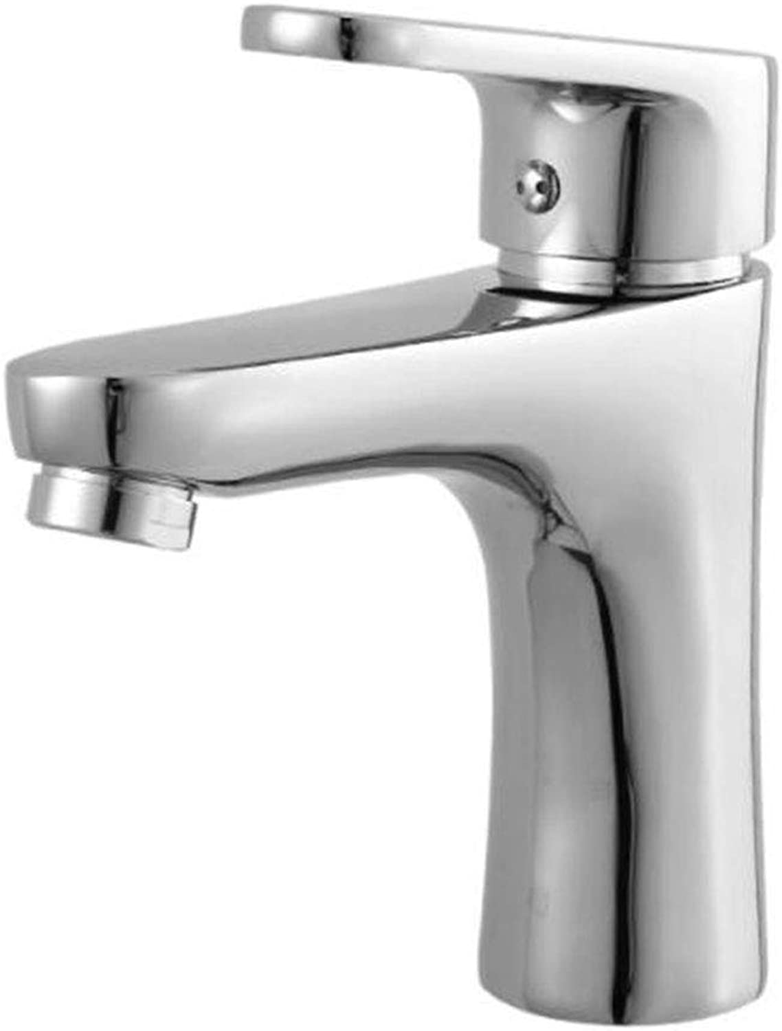 Bathroom Faucet, with Single Handle Sink Mixer Tap for Lavatory Bathroom Vanity Sink Faucet, Brass with Chrome Finish