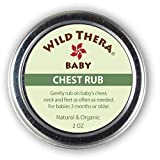 Wild Thera Baby Chest Rub Balm. Herbal Organic Solution for sniffles, Congestion, Sinus, Allergies & runny Nose. Gentle Relief with Eucalyptus, Ginger, Thyme, Echinacea and More Help Baby Sleep.