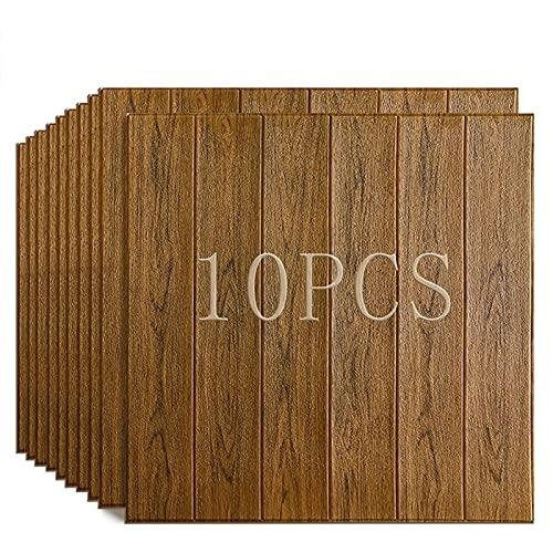 Panel De Pared 3D Imitación Revestimiento De Grano De Madera Cáscara De Ladrillo Panel De Ladrillo Fondo De Pantalla Sala De Estar Fondo De Cocina Decoración De Pared 10 Paquetes ( Color : B )