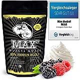MAX MUSKEL MÜSLI Protein Müsli Low Carb ohne Zucker-Zusatz & Nüsse - Müsli wenig Kohlenhydrate...