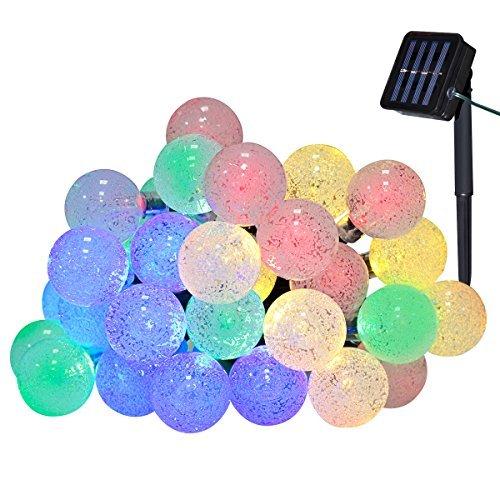 Yasolote 6M 30 LED Luci Stringa Solare Formato della Globo Catene Luminose con Pallina per Esterno Decorazione Giardino Patio Terrazza (Colori)