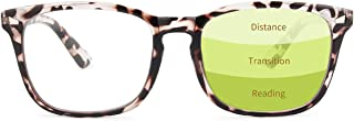 Gaoye Progressive Multifocus Reading Glasses Blue Light Blocking Women/Men,Computer Readers with Spring Hinge