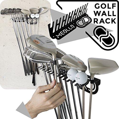 MEOLLO Golfschläger Organizer Wandhalterung (100% Stahl) (schwarz)