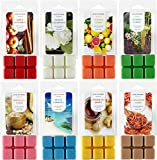 Hand-Poured Scented Soy Wax Melts – Set of 8 Assorted 2.5oz Wax Cubes/Tarts   Home Fragrance for Wax Warmer   Bulk Value Pack