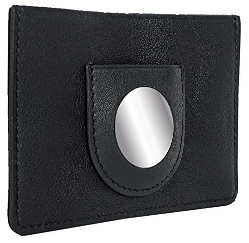 BRAUN BÜFFEL AirTag Arizona 2.0 S - Custodia per carte di credito, in pelle, colore: Nero