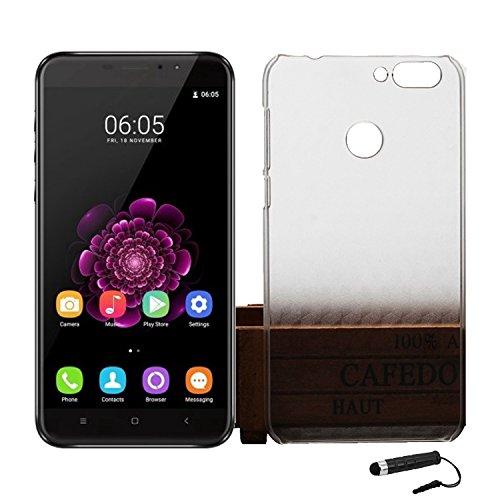 Ycloud Tasche für Oukitel U20 Plus Hülle, Handy Backcover Kunststoff-Hard Shell Hülle Handyhülle mit stoßfeste Schutzhülle Smartphone Weiß Transparent