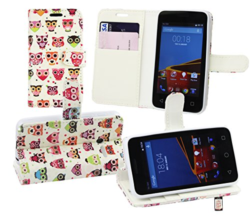 Emartbuy Premium PU Leather Desktop Stand Wallet Case Cover for Vodafone Smart First 6