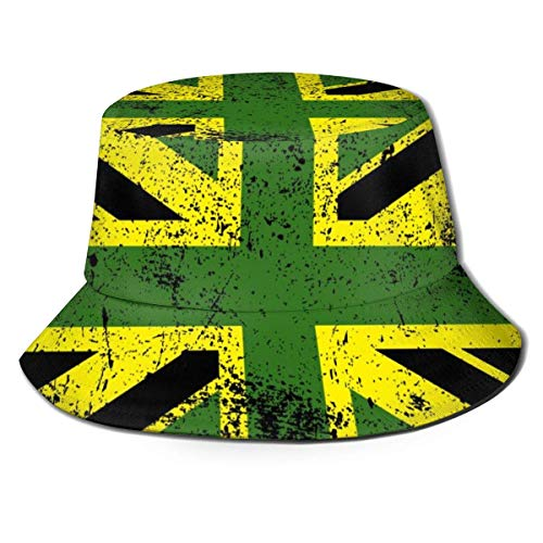 Be-ryl Vintage Jamaika + Vereinigtes Königreich Flagge Unisex Lustiger Eimer Hut Fisherman Cap Sun Hat