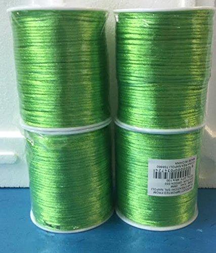 Subito disponibile Nastro Cordoncino Coda di Topo Verde 2 mm x 100 Metri