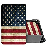 Fintie SlimShell Case for Samsung Galaxy Tab A 8.0 2019 Without S Pen Model (SM-T290 Wi-Fi, SM-T295 LTE), Ultra Thin Lightweight Tri-Fold Stand Cover, US Flag