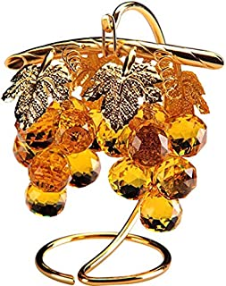 Crystal Asfour 13/16/501 Crystal Grapes Decor - Yellow And Gold