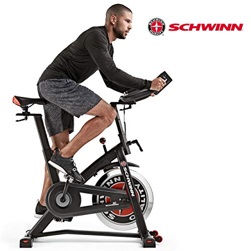 Schwinn Speedbike IC7 Fitnessbike mit LCD-Display, stabile Rahmenkonstruktion, Tablethalterung, 18 kg PWD Schwungrad, drahtlose Herzfrequenzmessung, max. Benutzergewicht 136 kg